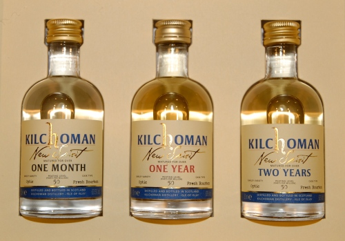 Kilchoman New Spirit bottles