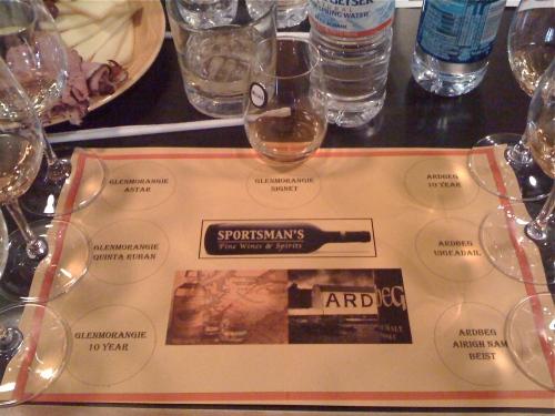 Glenmorangie/Ardbeg tasting matt