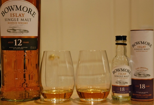 Bowmore 12 and 18 comparison