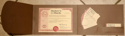Ambassador barrel certificate and business cards