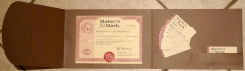 Ambassador barrel certificate and business cards