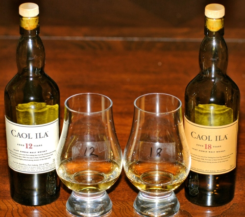 Sampling Caol Ila 12 and 18