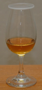 Laphroaig 10 CS Batch 001 in a nosing glass