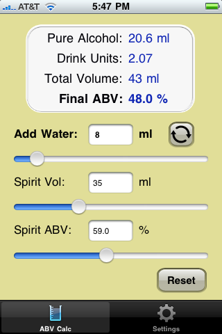 Easy ABVs for iPhone – Part 2 | Scotch Hobbyist's Blog