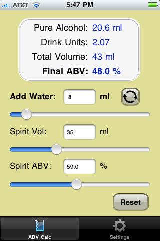 ABV Calc (Final ABV Mode)