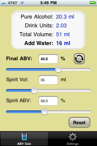 ABV Calc (Add Water Mode)